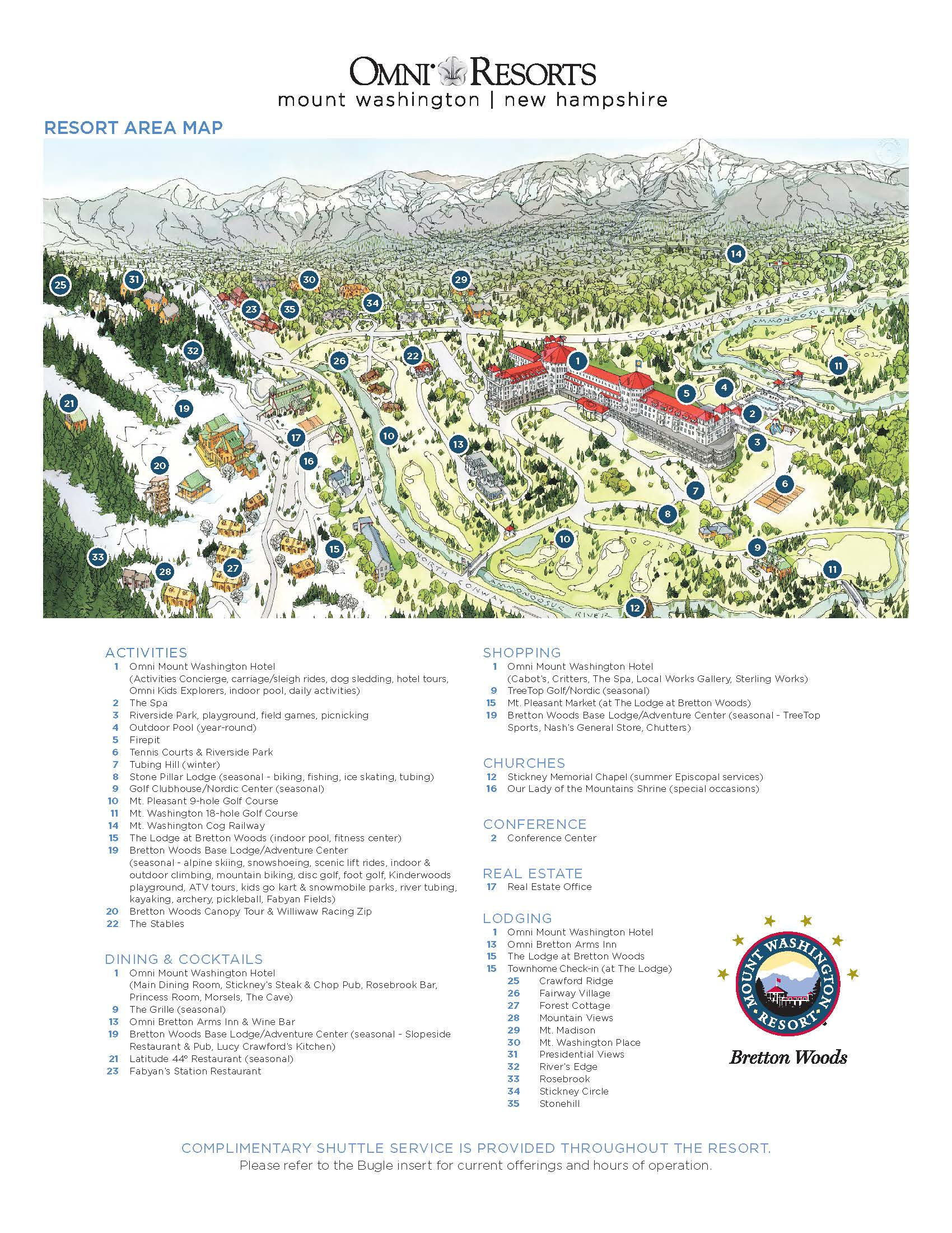 Omni Mount Washington Resort map