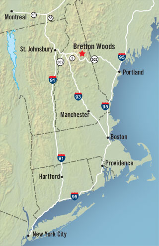 Driving Directions to Bretton Woods