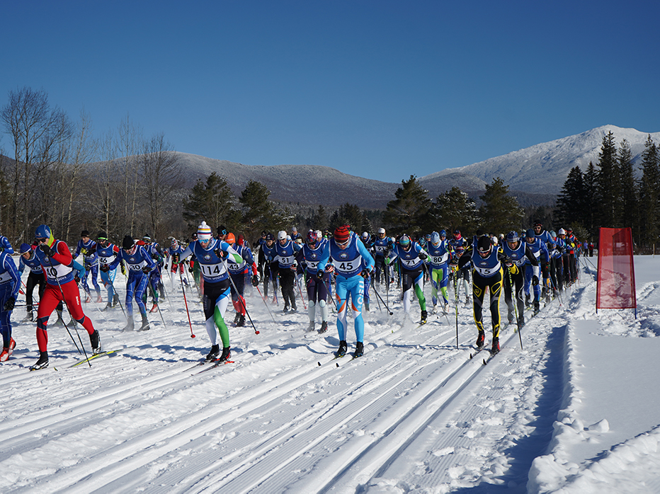 It's an absolutely stellar day for the 47th Annual Geschmossel Nordic Ski Race!