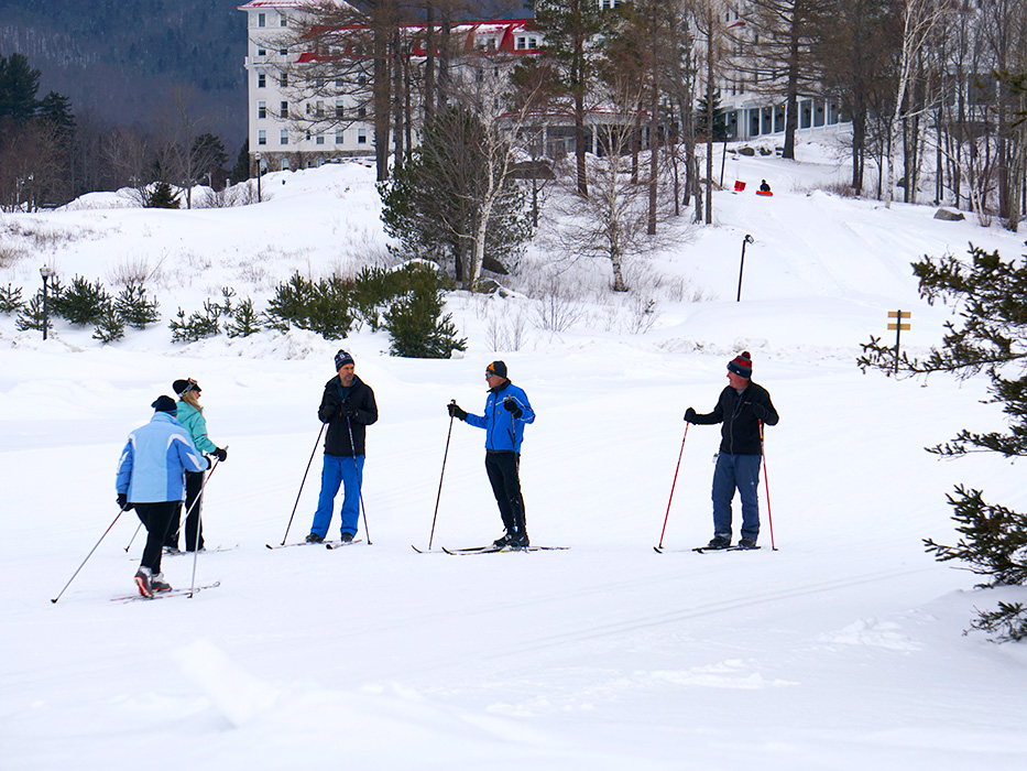 Great conditions for a Nordic ski lesson with our PSIA certified Nordic ski school.