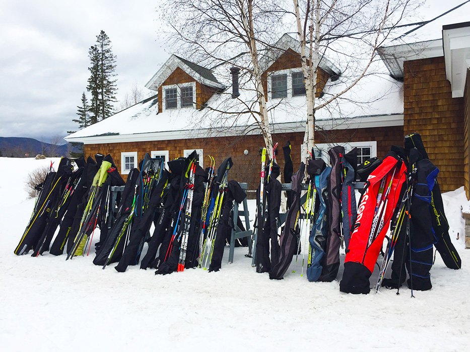 A full rack kind of day at the Bretton Woods Nordic Center.