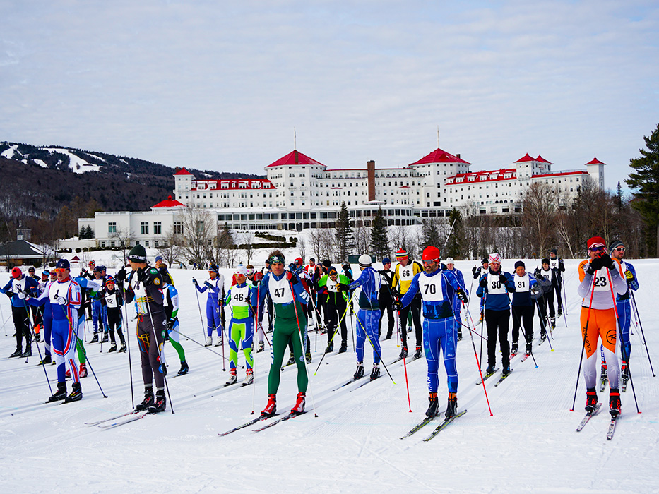 The start of the 45th Annual Mount Washington Cup Nordic 10K!