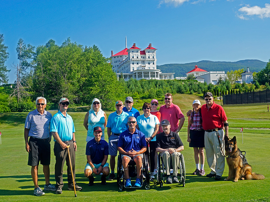 Golfers from New England Disabled Sports pause for a group shot before hitting the links on this beautiful day!