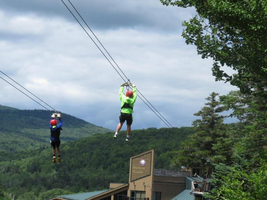 Great day to challenge a friend on the Wiliwaw Racing Zip at Bretton Woods!