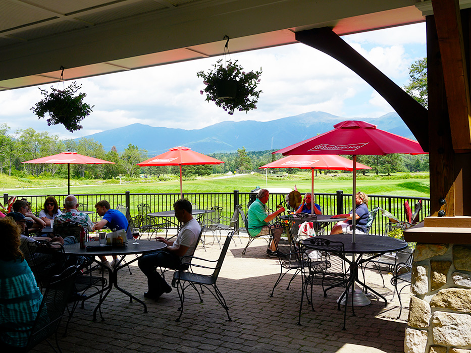 After a round of golf, the patio at The Grille is the perfect spot for lunch with a view.