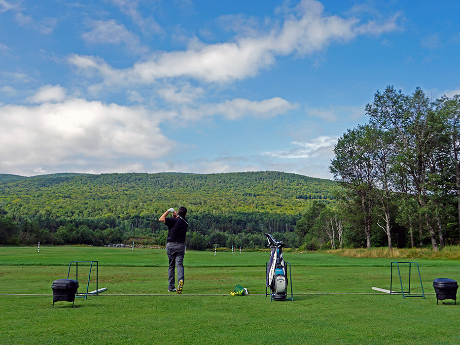 Practice your long game at our beautiful driving range.