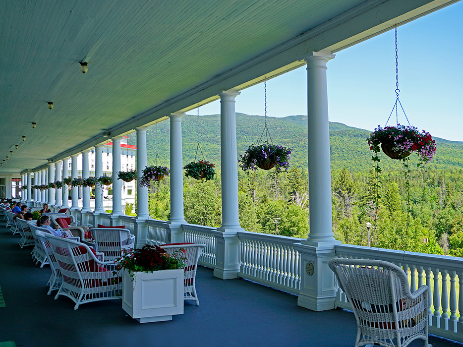 A perfect day for relaxing on the veranda.