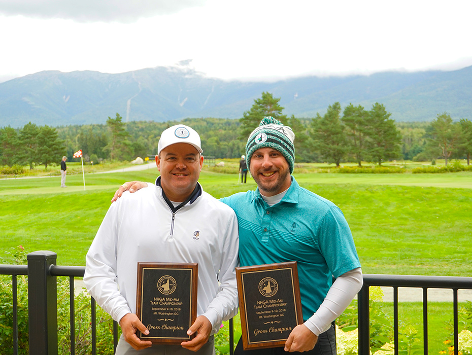 Congrats to the NHGA Mid-Am Team Championships Gross Winners; Jamie Ferullo & Pat Rahn!
