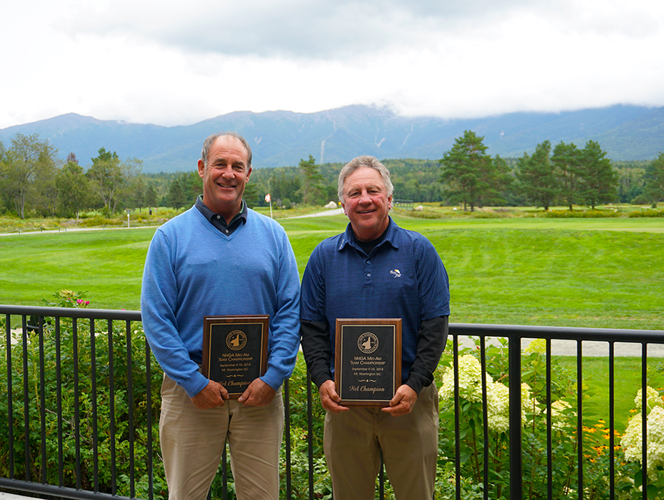 Congrats to the NHGA Mid-Am Team Championships Net Winners; Tom Burkardt & Chad Kageleiry!