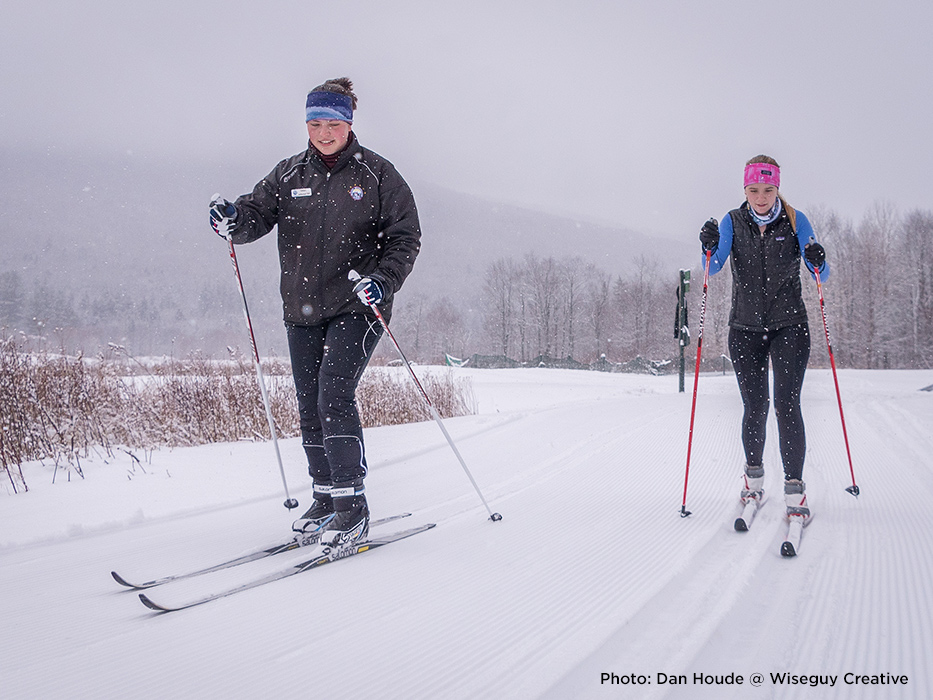 Conditions are excellent for taking a Nordic lesson.
