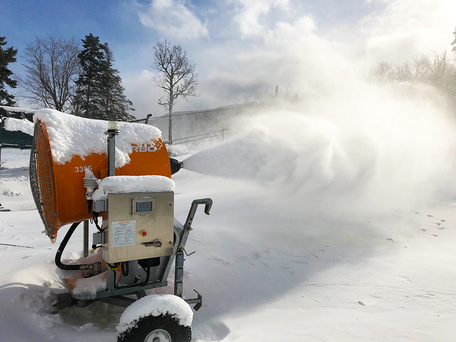Someone bet the snowmakers they couldn't get the mountain open in under a week ... snowmakers won that bet! We open this Friday!