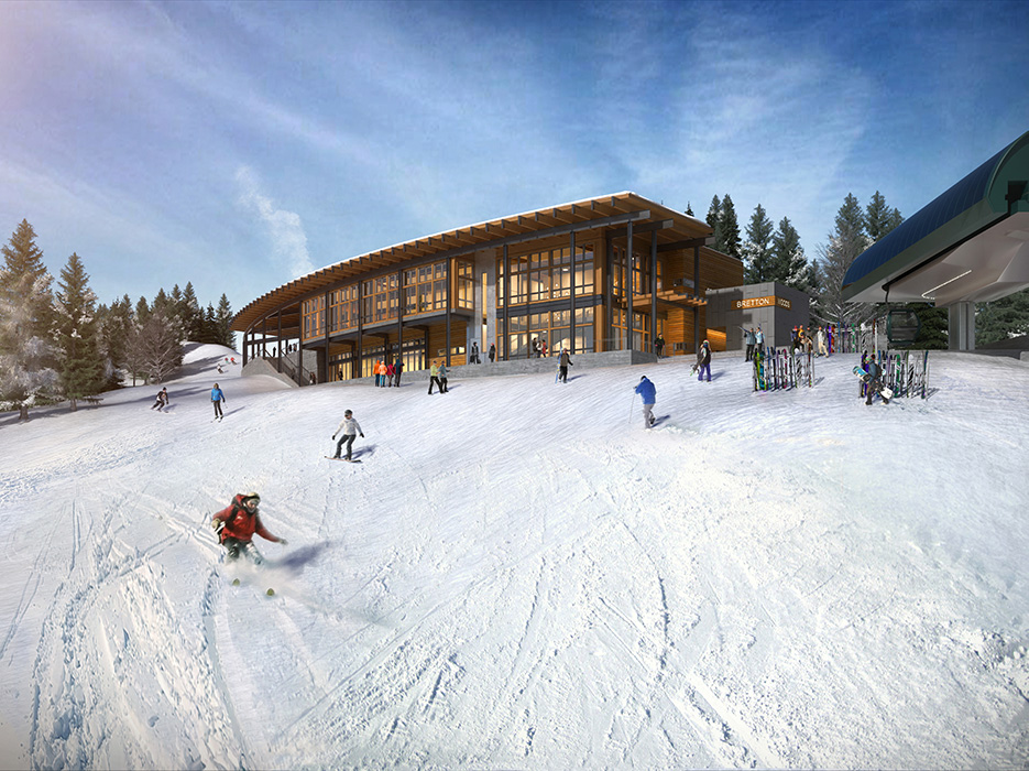 A sneak peak of what our new on-mountain restaurant & event venue will look like.