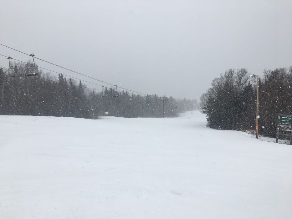 Some nice BW flurries to end the season! Last week to ski!